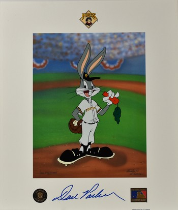 Pittsburgh Pirates - Bugs Bunny - Signed Dave Parker - Lithoserigraph