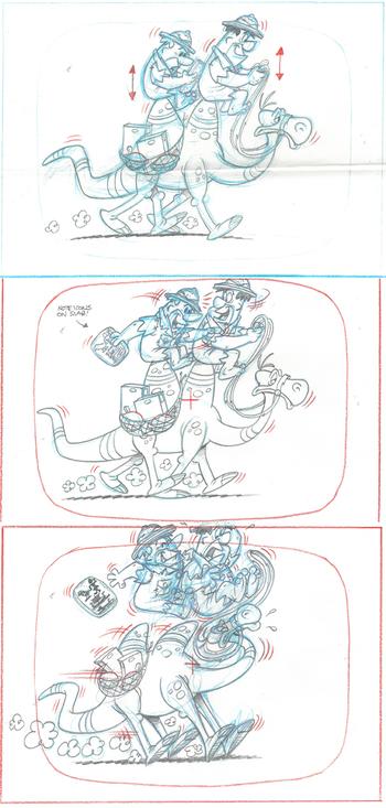 3 Original Flintstones Production Drawings-Tut-Rocks