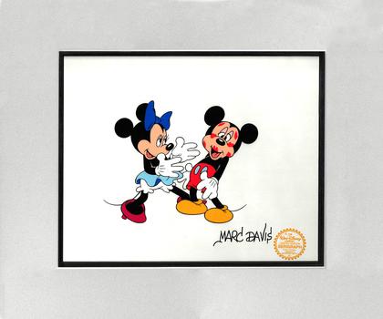 Marc Davis SIgned Minnie & Mickey Disney Sericel
