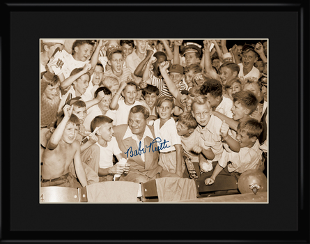 Babe Ruth with the Kids - Archival Lithograph