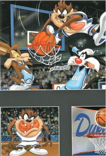 Duke L.E. Warner Bros. Basketball Lithograph