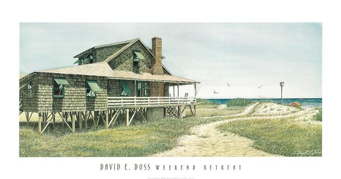 David E Doss - Weekend Retreat - Fine Art Lithograph