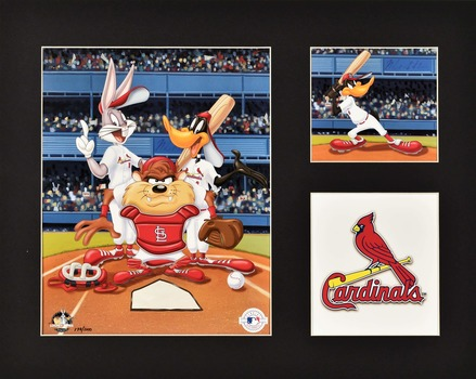 St. Louis Cardinals - Looney Tunes LE Matted Lithograph