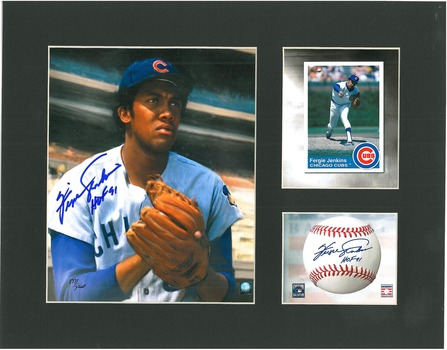 Fergie Jenkins Signed Lithograph - Matted