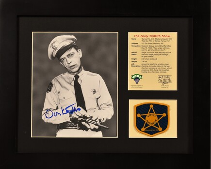 Barney Fife - Signed Don Knots