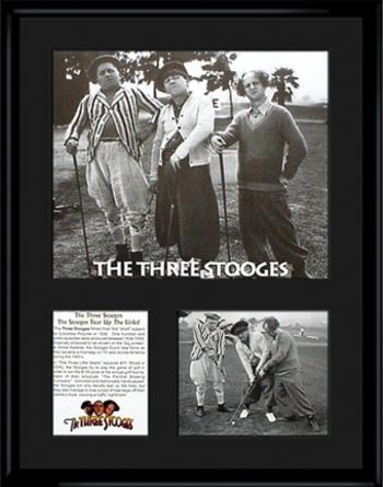3 Stooges Framed Golf LE Lithograph