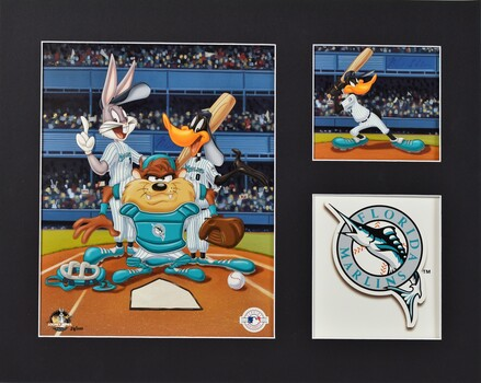 Florida Marlins - Looney Tunes Limited Edition Lithograph