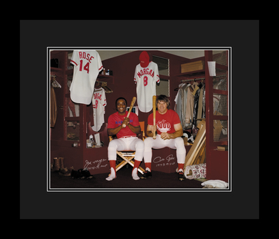 Joe Morgan and Peter Rose Clubhouse - SIGNED and Framed