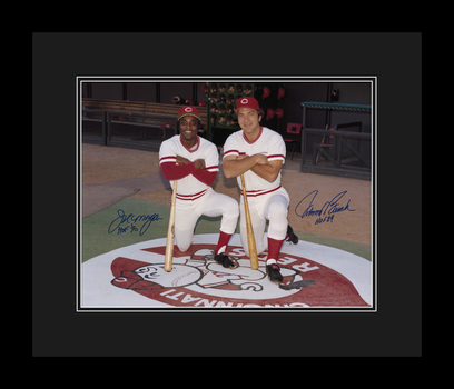 Joe Morgan and Johnny Bench on Deck - SIGNED - Framed