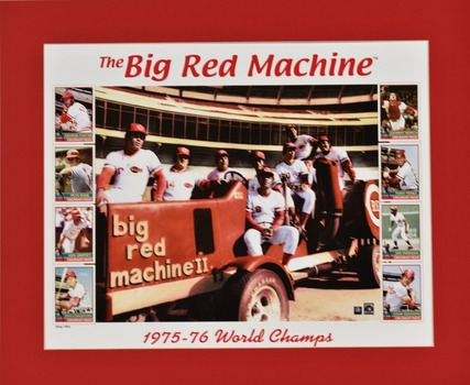 Big Red Machine Tractor Lithograph Limited Edition