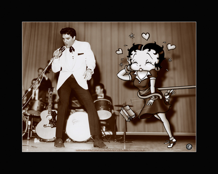 Betty Boop and Elvis - Starstruck Litho