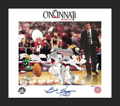 University of Cincinnati Bearcats LE. SIGNED Litho with Bob Huggins