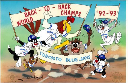 Toronto Blue Jays - Hand-Painted WB -Signed Cel
