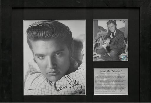 Elvis - Love Me Tender - Framed LE Lithograph