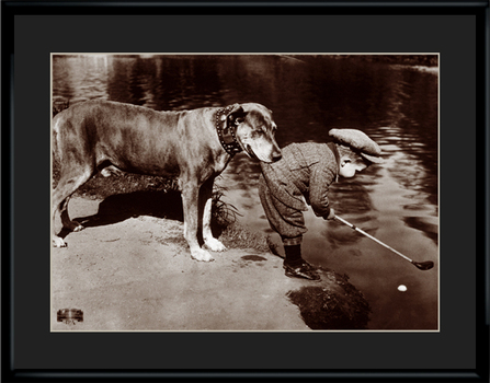 Boys Best Friend - Framed Archival Lithograph