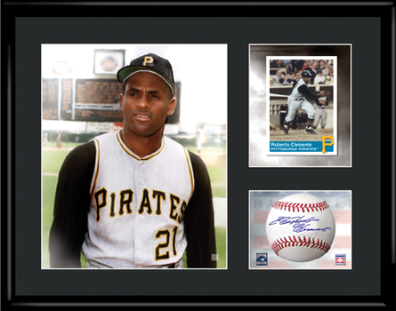 Roberto Clemente Framed LE Lithograph