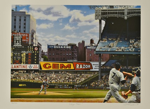 Mickey Mantle -Bill Purdom signed LE Lithograph