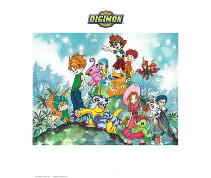 Digimon Lithograph & NEW Trading Cards