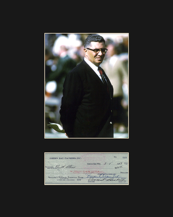 Vince Lombardi with Reproduction Personal Check