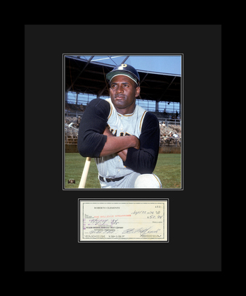 Roberto Clemente with Reproduction Check
