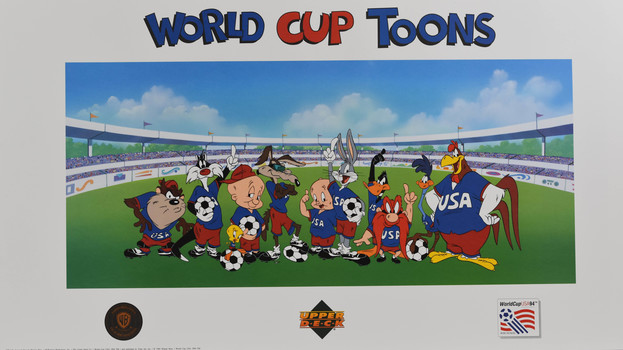 World Cup Soccer Looney Tunes Licensed Lithograph