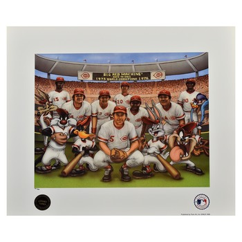 1976 Big Red Machine - Licensed Looney Tunes Lithograph