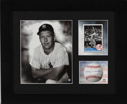 Mickey Mantle - Limited Edition Lithograph with Facsimile SIgnature-Framed