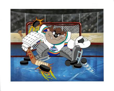 New York Islanders - Hand-Painted Looney Tunes Cel