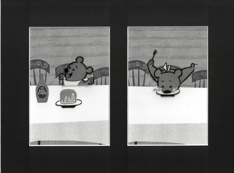 Three Bears - Production Cels - Log Cabin Syrup
