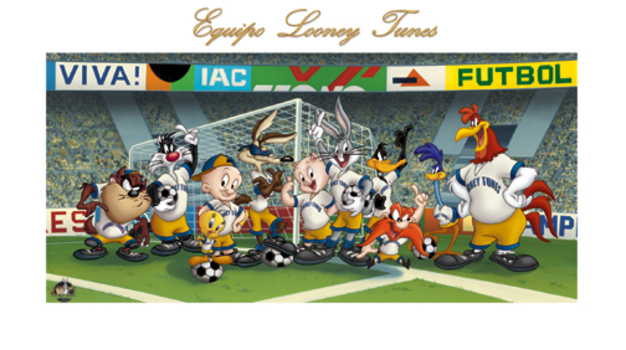 Equipo Looney Tunes - Fine Art Soccer Lithograph