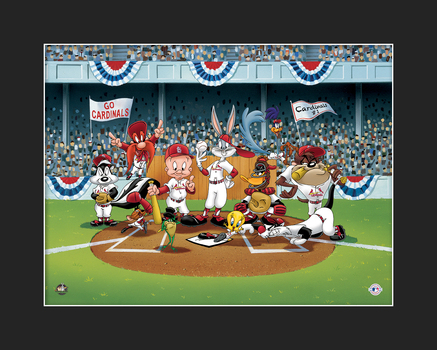 Looney Tunes Cardinals Line-Up Giclee