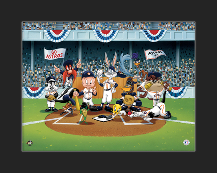Looney Tunes Astros Line-Up Giclee L.E.