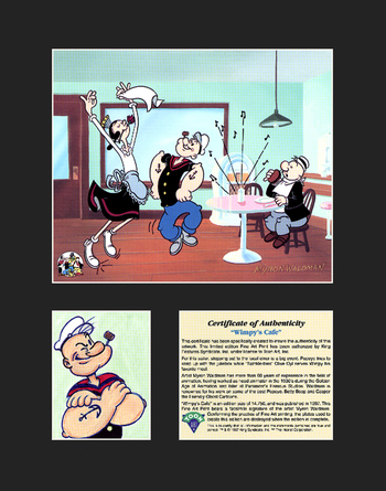 Popeye Lithograph - Wimpy's Cafe