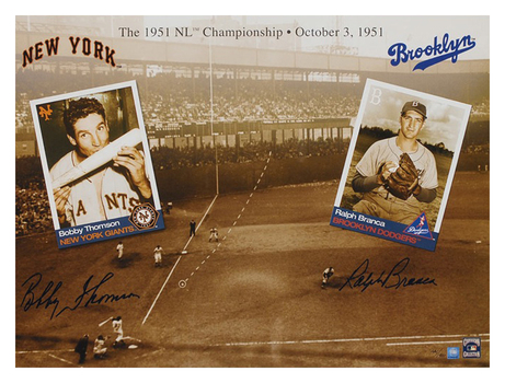 1951 NL Champions - Signed by Bobby Thomson and Ralph Branca