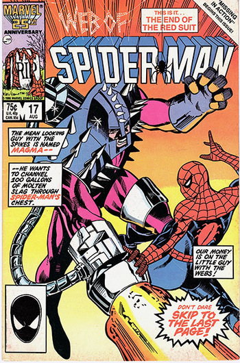 1986 Marvel:  Web of Spider-Man #17