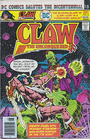 "1976 DC: ""Claw, the Unconquered"" #8 (DC Comics Salutes the Bicentennial)"