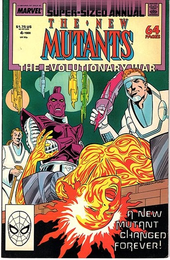 1988 Marvel:  The New Mutants Super-Sized Annual #4, The Evolutionary War