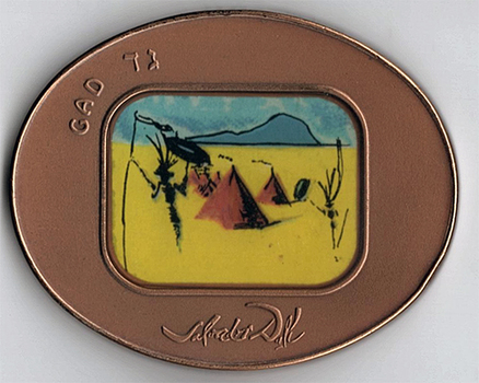 VERY RARE: Tribe of Gad- Salvador Dali Bronze Tombac Medal (Only 2,250 produced!)