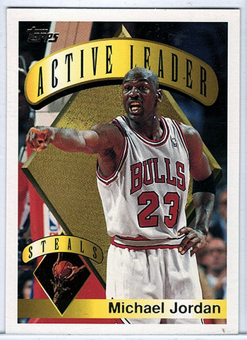 1991 TOPPS Michael Jordan - Active Leaders