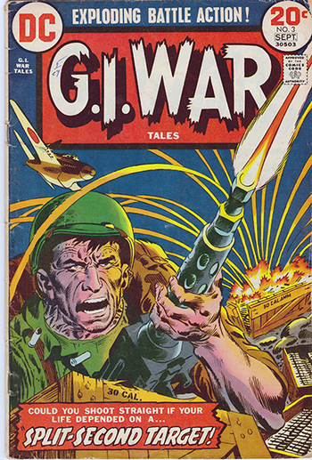 1973 DC:  G.I. War Tales (As Originally Appeared in ALL AMERICAN MEN OF WAR #55, 1958)