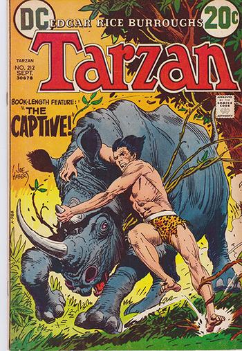 1972 DC:  Tarzan #212 - Book Length Feature