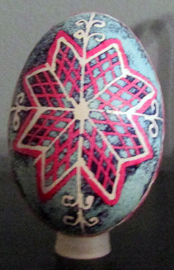 """""""Pysanka"""" Egg - Handcrafted Holiday Egg (Eastern European Tradition) from the Hohman Collection"""
