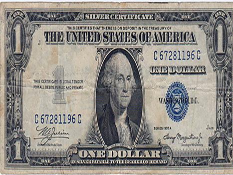 1935A $1 Silver Certificate, C67281196C
