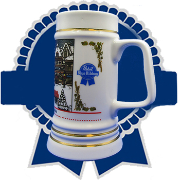"""Pabst BR Beer Stein: 3rd in the """"Craftsman"""" Series"""