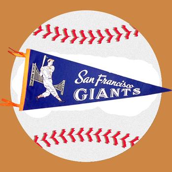 Vintage 1960's San Francisco Giants Felt Pennant