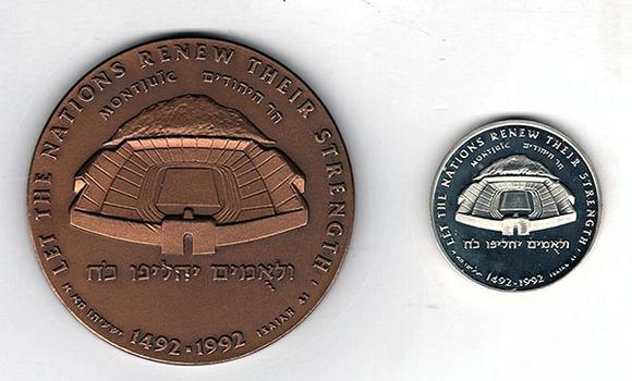 """1990 Israeli State Medal Set: """"Barcelona Olympic Games, 1992"""" Bronze Medallion"""""""