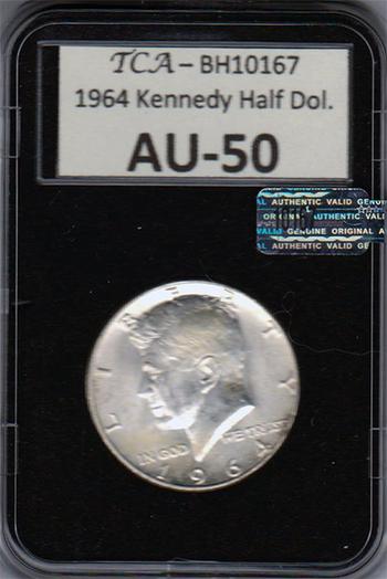 1964 Kennedy Half Dollar - Silver, AU-50