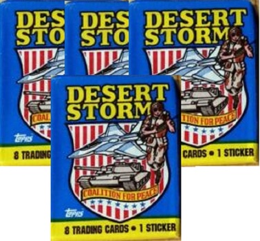 1991 Topps Desert Storm Series 1 - Coalition for Peace Unopened Wax Packs (4)