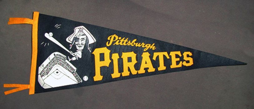 1960s Vintage Pittsburgh Pirates Felt Pennant - Excellent Condition