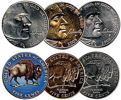 2005-P Jefferson Nickel Set (3)